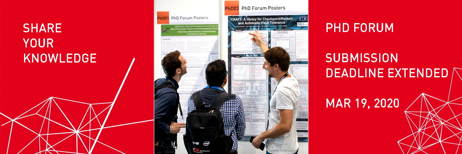 ISC 2020 PhD Forum Submission Deadline Mar 19