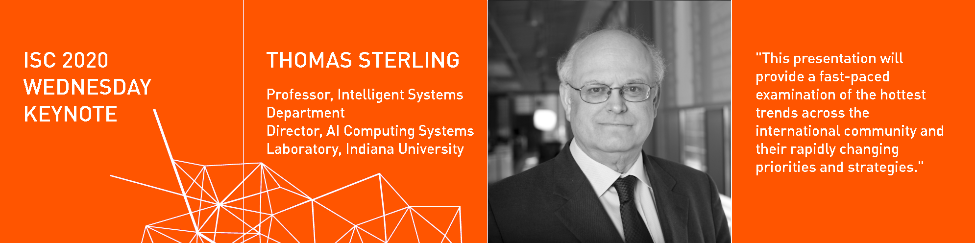 ISC 2020 Wednesday Keynote Thomas Sterling